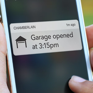 Smartphone Alert Garage Door Open Notification
